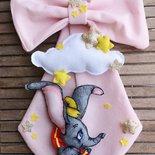 Fiocco nascita bimbo personalizzato elefantino.