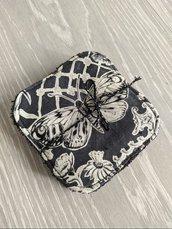 Pad struccanti lavabili in spugna, fantasia butterfly