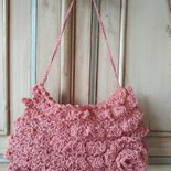 Borsa a uncinetto estate tracolla, borsetta pizzo shabby chic, borsa piccola romantica, borse a maglia, borsa in cotone