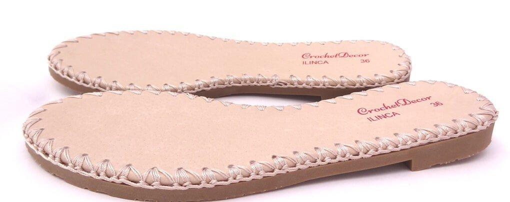 Suola Linca per scarpe e sandali uncinetto N34 (cm 22,5)