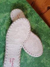 Suole linca per sandali e scarpe uncinetto N 39( 25,8cm)