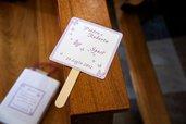 Ventaglio Matrimonio personalizzabile con data e nome degli sposi