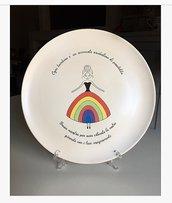 Piatto decorativo in ceramica