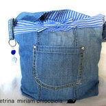 Borsa jeans ( tessuto riciclato)