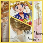 fermacapelli SAILOR MOON cristallo luna manga strass regalo cartone