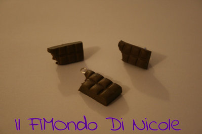Parure al cioccolato - Chocolate set - Fimo