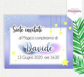 invito di compleanno bimbo, invito battesimo, segnaposto, invito bambino