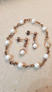 Braccialetto con perle swarovski