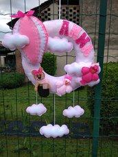 Fiocco nascita... un'orsetta in mongolfiera