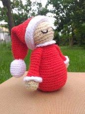 Amigurumi pupazzetto natalizio tenero / bambolina bimbo natale /