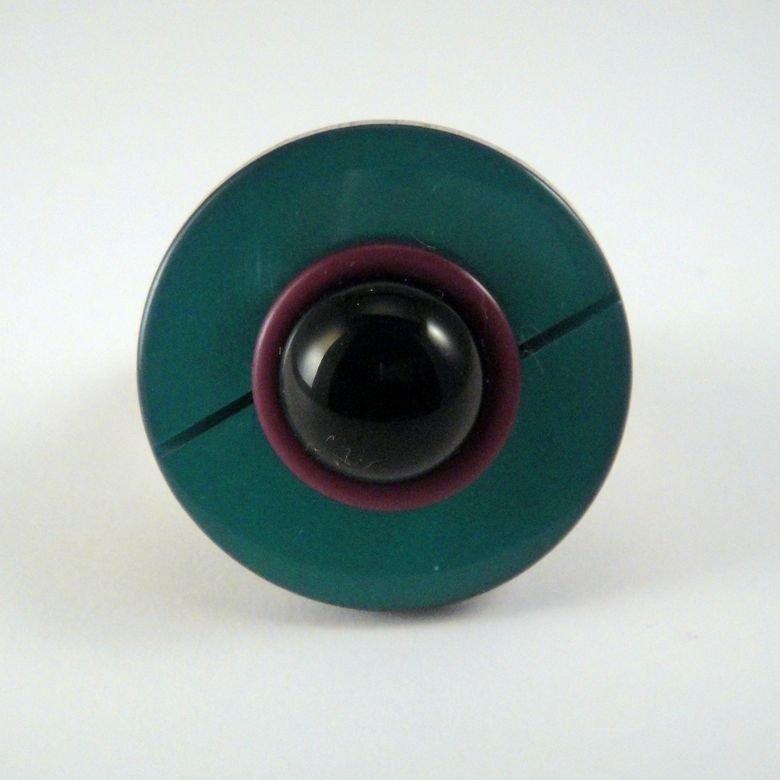 "anello bottone ""bauhaus"""