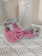 Sandaletti neonato . Taglia 3-6 mesi