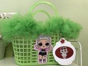 Borsetta shopper in plastica per bambina