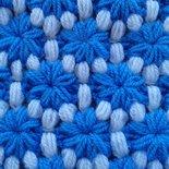 Schema uncinetto copertina neonato fiori sulle nuvole, uncinetto schema 813, schema copertina uncinetto carrozzina neonato, bicolore.