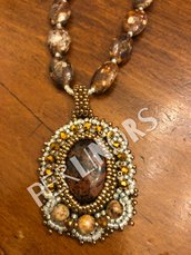 """Collana """"Rococó"""" in beads embroidery"""