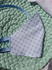 Mascherina neonato cotone e piquet