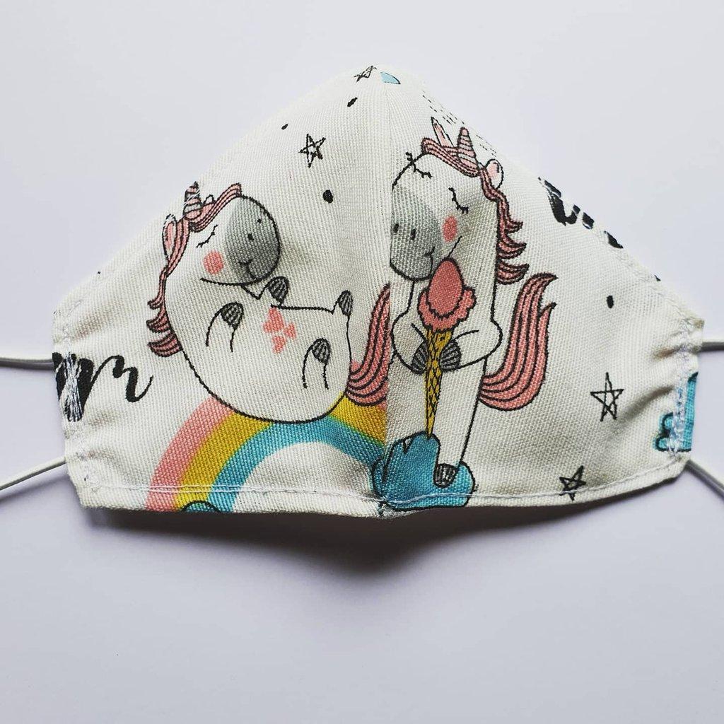 Mascherina sagomata bimbo unicorno