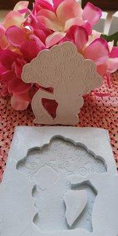 Stampo angelo con albero della vita in gomma siliconica professionale da colata