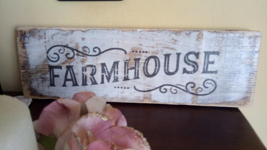 """DECORAZIONE IN LEGNO """"FARMHOUSE"""""""