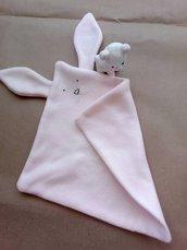 Dou Dou rosa coniglietto e topolino in pile -