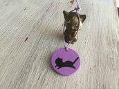 Ciondolo in legno gatto