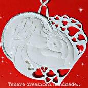 Icona maternità in polvere di ceramica bomboniere