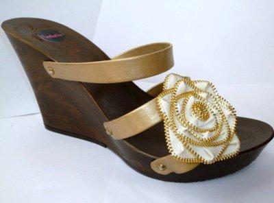 Golden Rosette - sandali fatti a mano