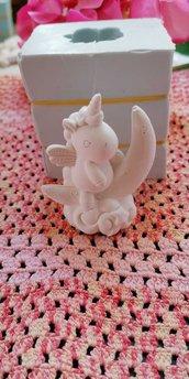 Stampo unicorno su luna 3d in gomma siliconica da colata
