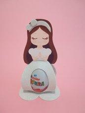 Porta ovetti ovetto Kinder principesse belle Aurora Ariel sirenetta