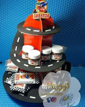 kit party cars, alzatina , kinder card e nutelline