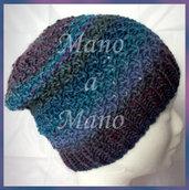 Cuffia morbida - Viola e blu