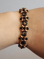 bracciale oro e nero