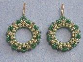 orecchini di cristallo verde smeraldo