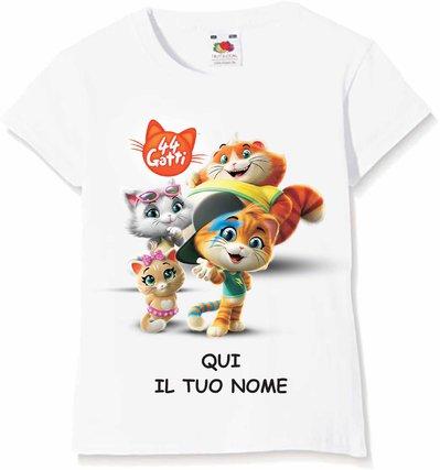 t-shirt personalizzata pj mask - paw patrol - 44 gatti