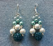 Orecchini con perla shambala