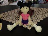 bambola amigurumi in cotone