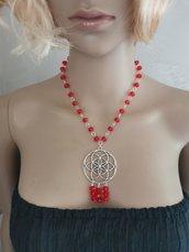Collana rossa donna