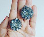 Luminosi orecchini di cristallo