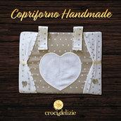 Copriforno copri forno ricamabile cuori in tela aida da ricamare a punto croce