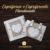 set cucina Copriforno coprifornelli copri forno fornelli 4 fuochi ricamabile cuori in tela aida da ricamare a punto croce