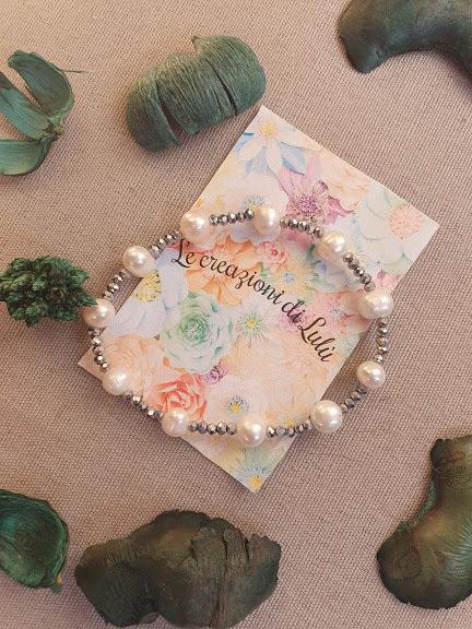 Bracciale elasticizzato perline