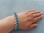 Bracciale di perle e cristalli