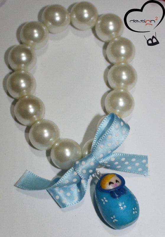 SALDI - Bracciale matrioska azzurra