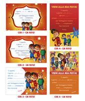 Inviti compleanno baby (cartoncino gr. 250) - vari personaggi