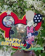 Cake topper decorazione torta festa compleanno topolino