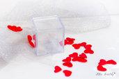 Scatolina trasparente Cubo Plexiglass, bomboniere fimo, bomboniere fimo in plexglass, bomboniere fimo in plexiglass, bomboniere matrimonio fimo in plexiglass, bomboniere per matrimonio in fimo in plexiglass, PLEXIGLASS CONFETTI