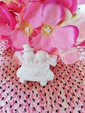 Sposi - sposini nozze d'argento - 25 anni matrimonio in gesso ceramico profumato per il fai da te