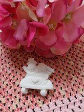 Sposi - sposini nozze d'oro - 50 anni matrimonio in gesso ceramico profumato per il fai da te