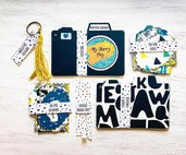 Kit creativo fai da te artigianale per bambini per realizzare un mini album foto_ Happy Box_ MY HAPPY DAY_ for Happy Baby Boys