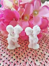 Sposini - sposi - coppia  in gesso ceramico profumato per il fai da te